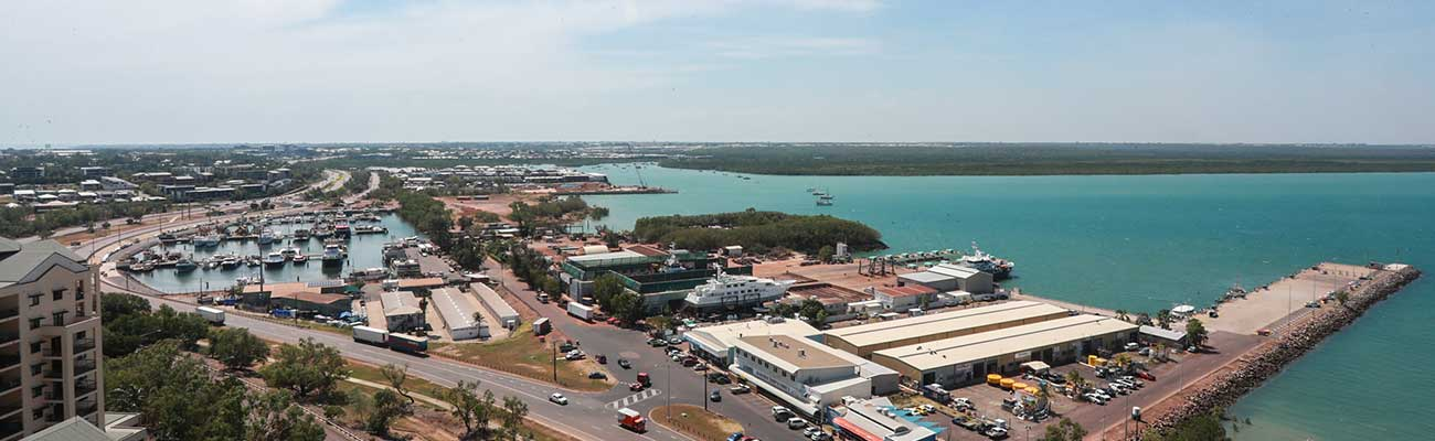 Aerial view of Francis Bay Mooring Basin